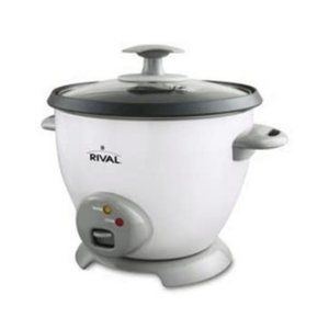 Rival Rice Cooker Easy Clean Non-Stick 6 Cup